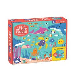 "Mudpuppy ""Ocean Party"" Lift-the-Flap 12 Piece Puzzle"