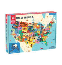 "Mudpuppy ""Map of the USA"" 70 Piece Puzzle"