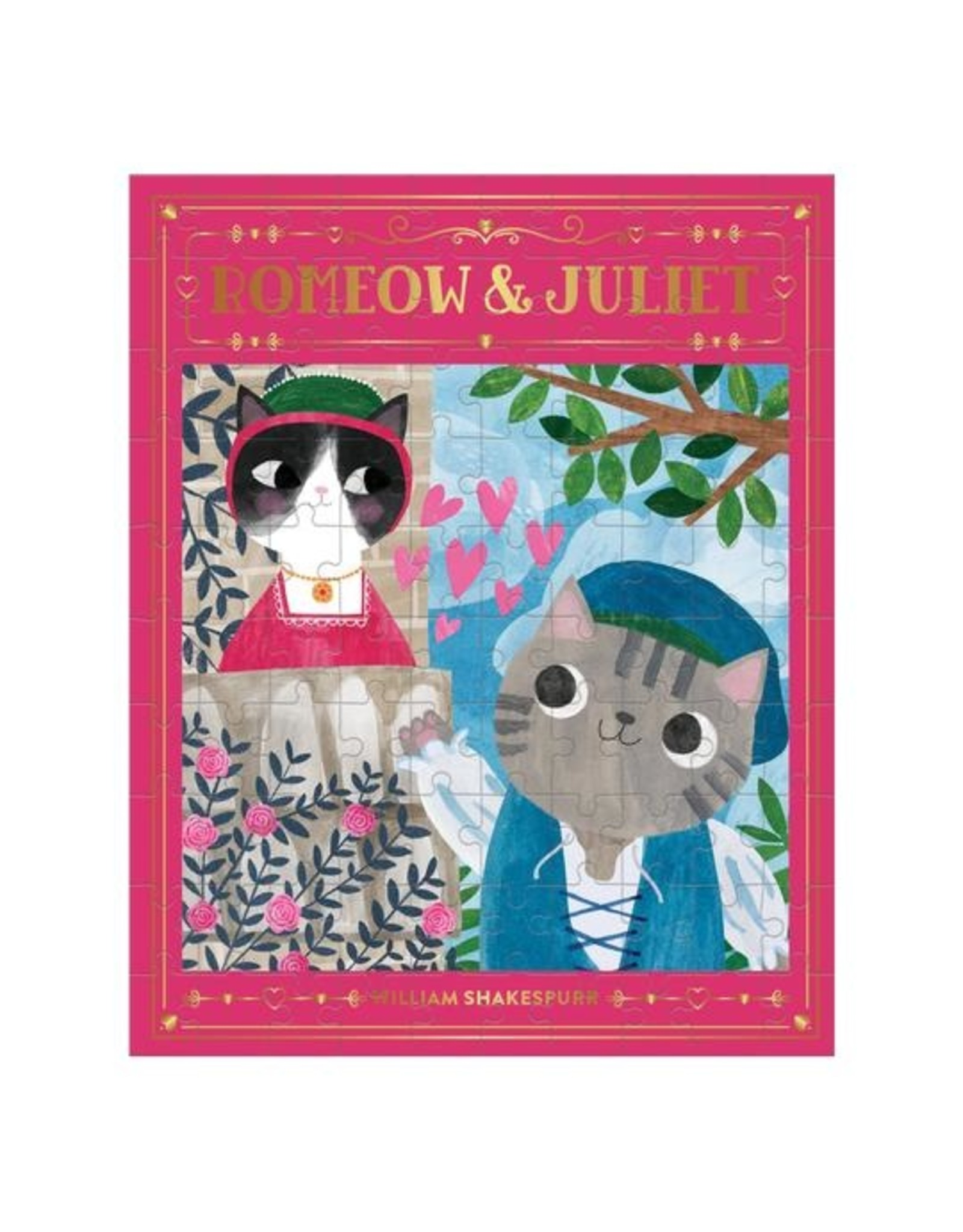 """Mudpuppy """"Romeow & Juliet"""" 100 Piece Puzzle"""