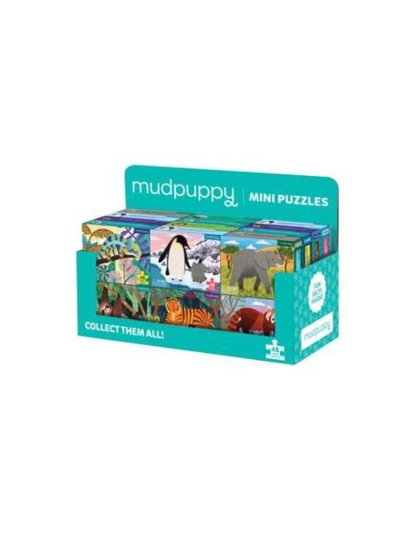 Mudpuppy Mini 48-Piece Animal Puzzles