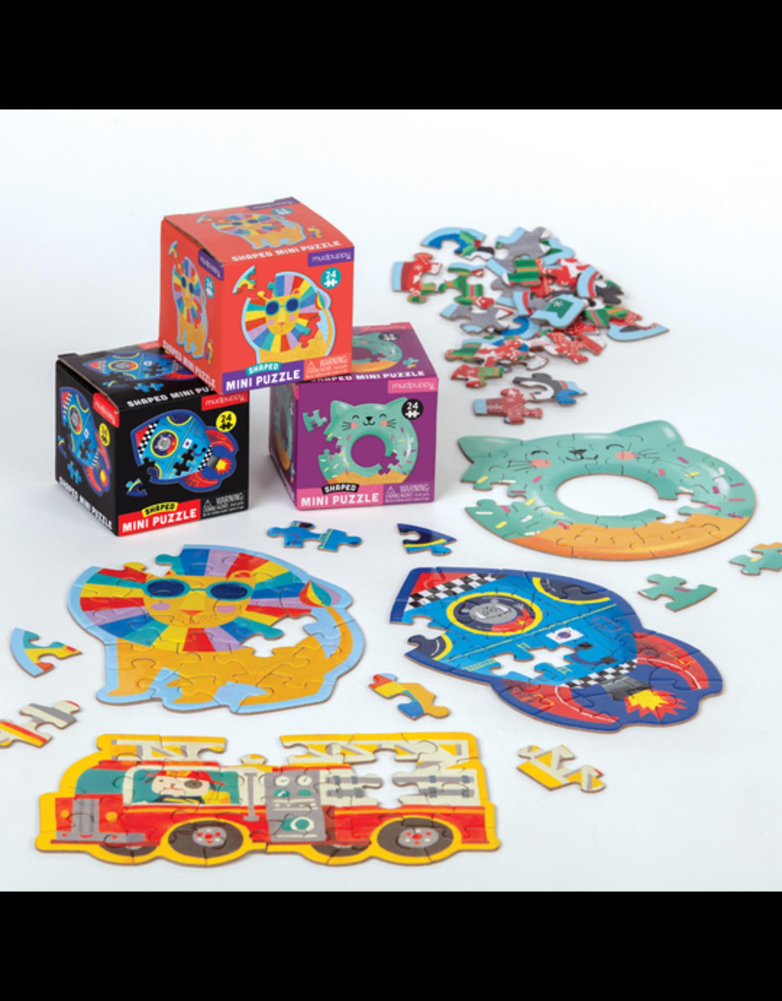 Mudpuppy Mini 24-Piece Shaped Puzzles