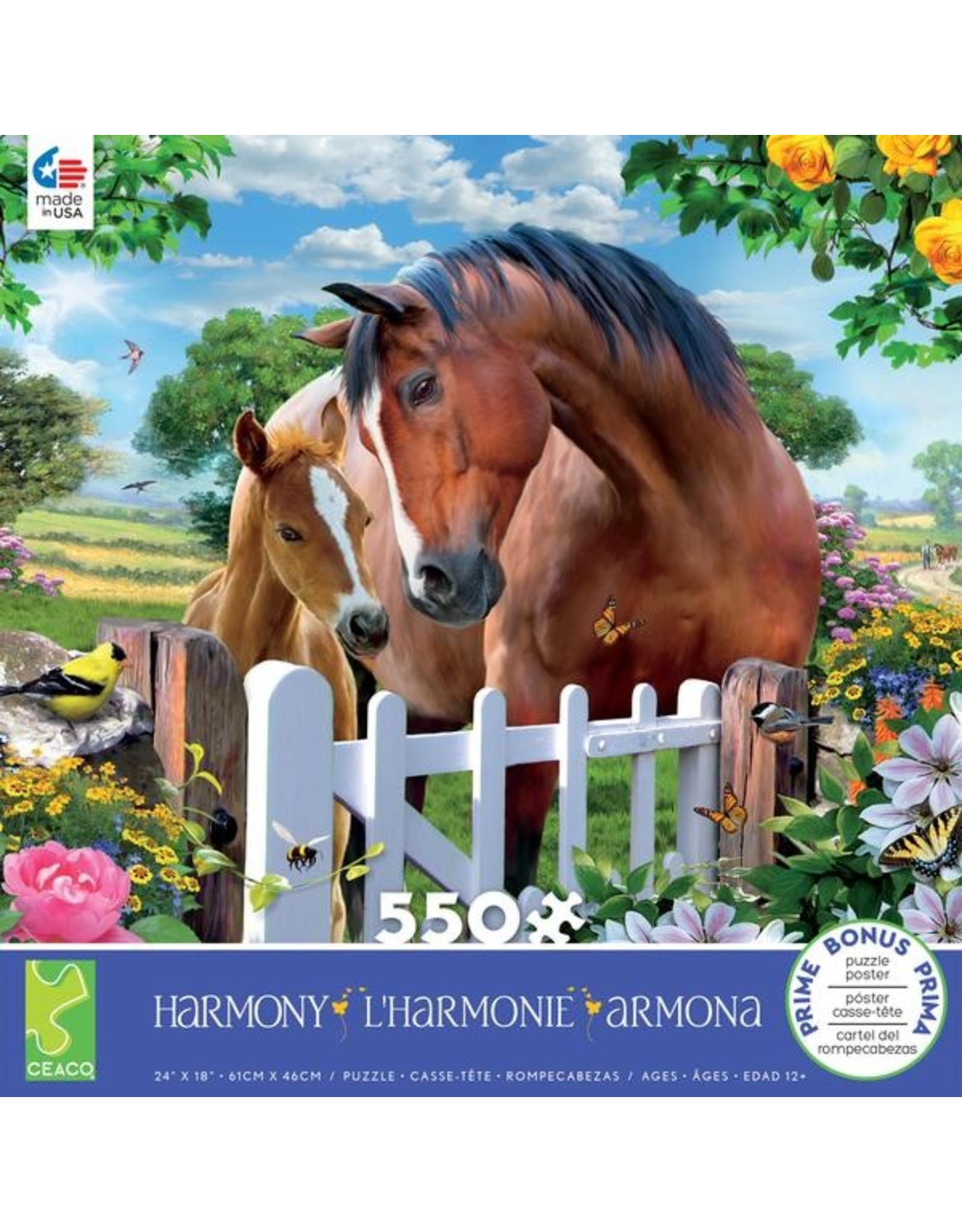 "Ceaco Harmony Collection: ""At the Garden's Gate"" 550 Piece Puzzle"