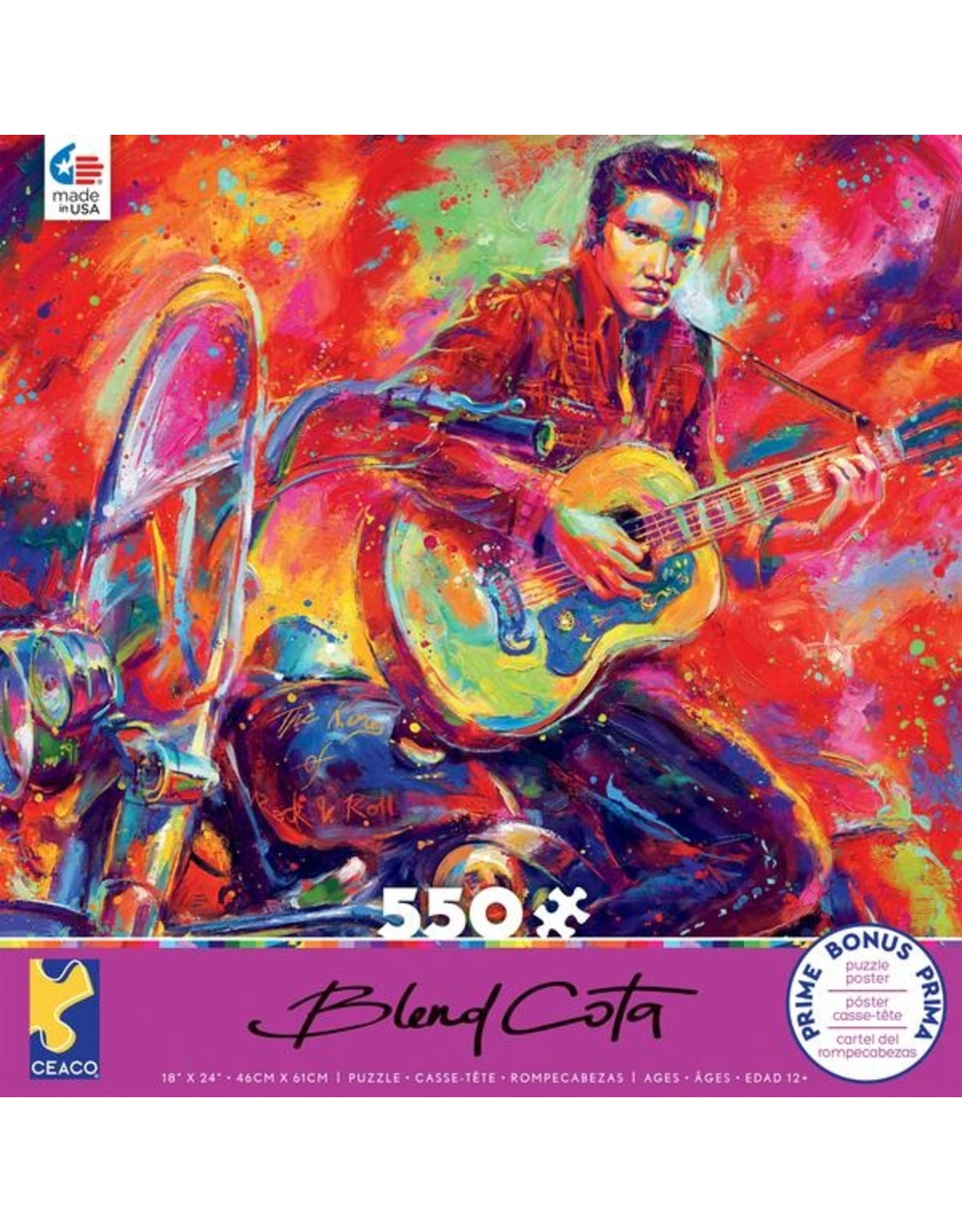 """Ceaco Blend Cota Collection: """"Rock and Roll """" 550 Piece Puzzle"""