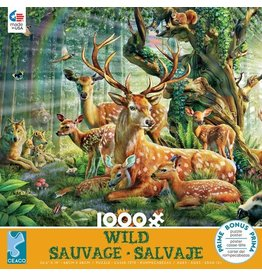 "Ceaco ""Deer Family"" 1000 Piece Puzzle"