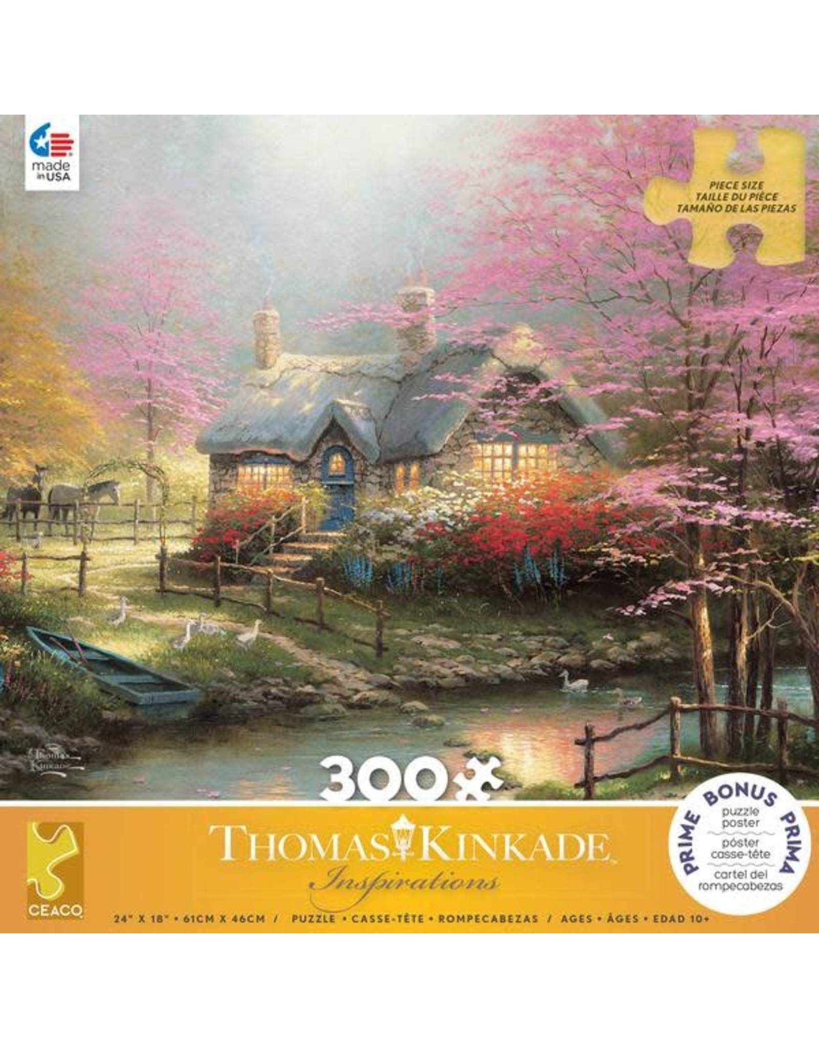 "Ceaco Inspirations Collection: ""Stepping Stone"" 300 Piece Puzzle"