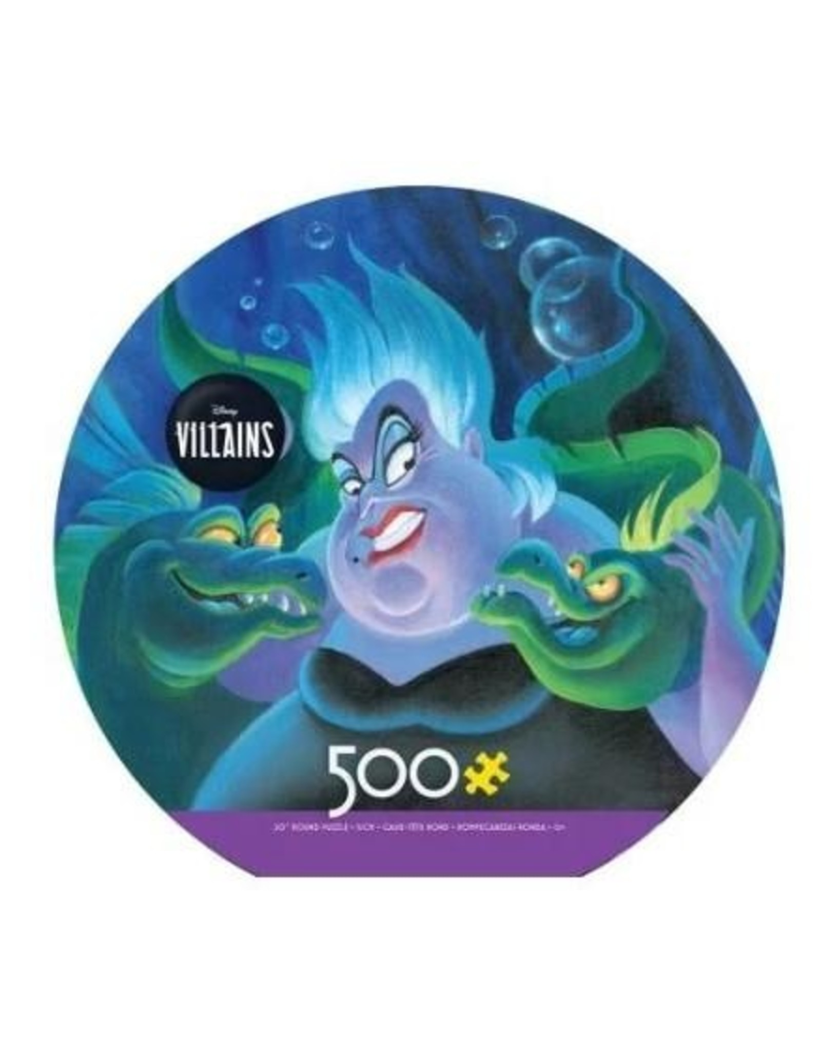 "Ceaco Disney Villains Collection: ""Ursula"" 500 Piece Round Puzzle"