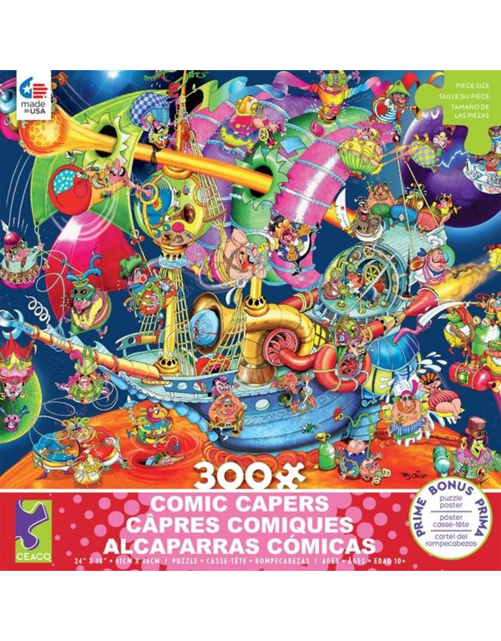"Ceaco Comic Capers Collection: ""Looking for Mars"" 300 Piece Puzzle"