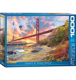 "Eurographics ""Sunset at Baker Beach"" 1000 Piece Puzzle"
