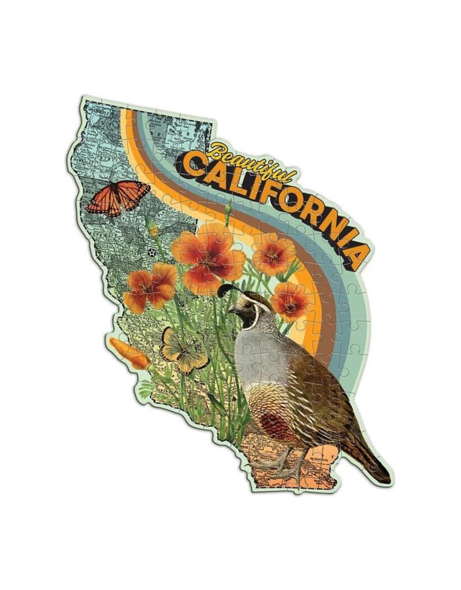 "Galison ""Beautiful California"" 100 Piece Mini Shaped Puzzle"