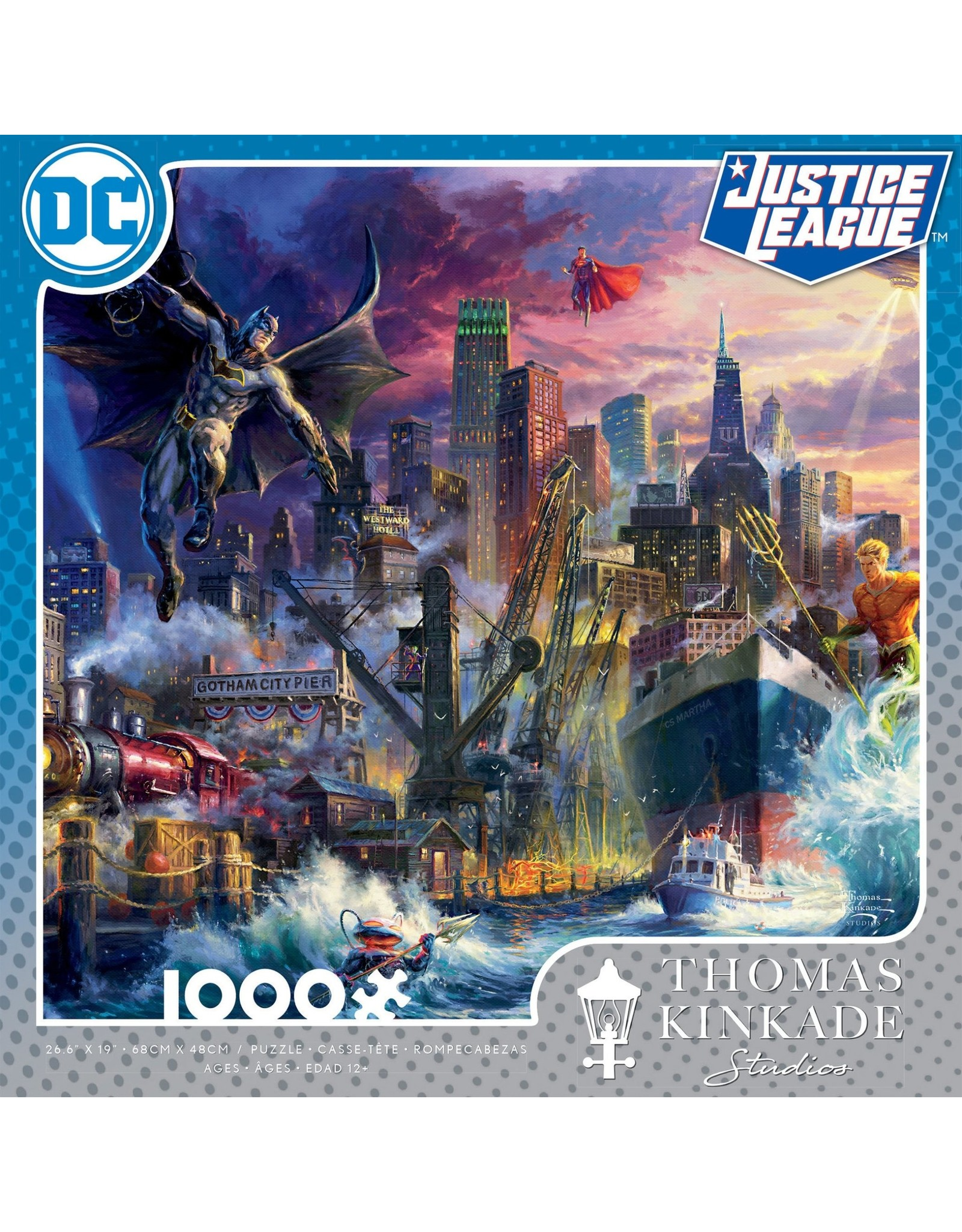 Ceaco Thomas Kinkade: Gotham Pier Showdown 1000 Piece Puzzle