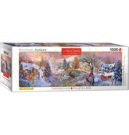 "Eurographics ""To Grandma's House We Go"" 1000 Piece Panoramic Puzzle"