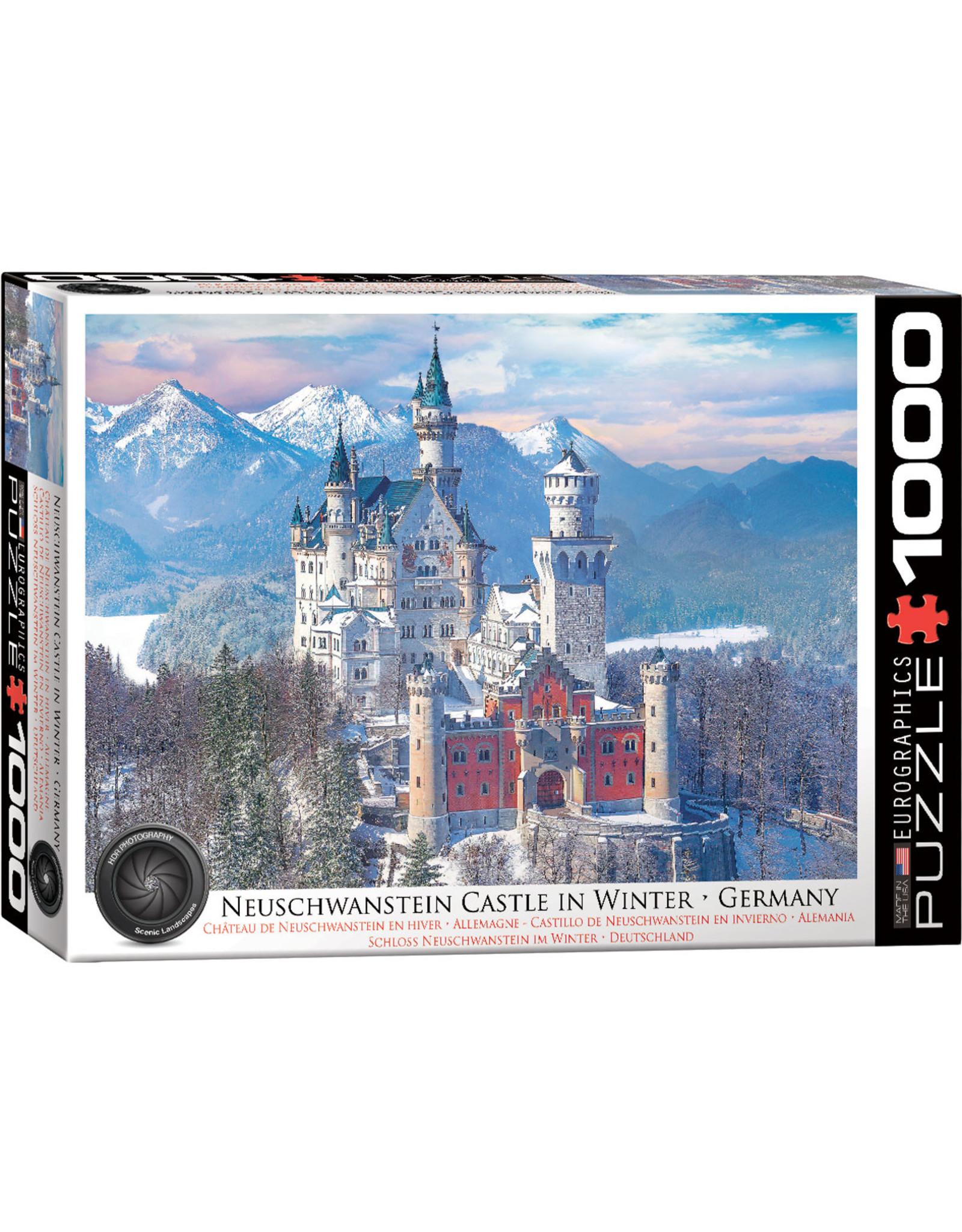 """Eurographics """"Neuschwanstein in Winter"""" 1000 Piece Puzzle"""