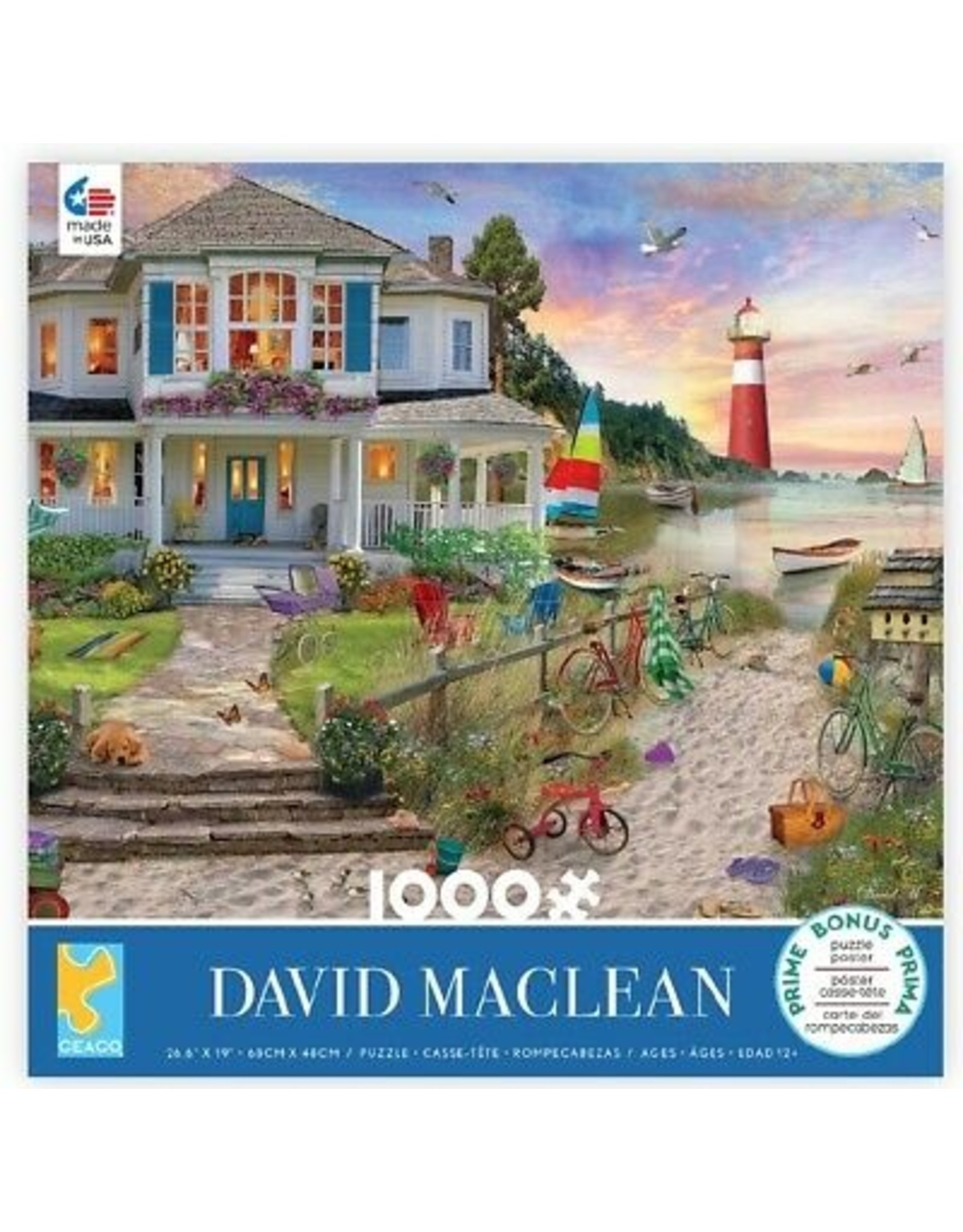 Ceaco David Maclean: Beach Cove - 1000 Piece Puzzle