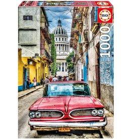 """Educa """"Vintage Car in Old Havana"""" 1000 Piece Puzzle"""