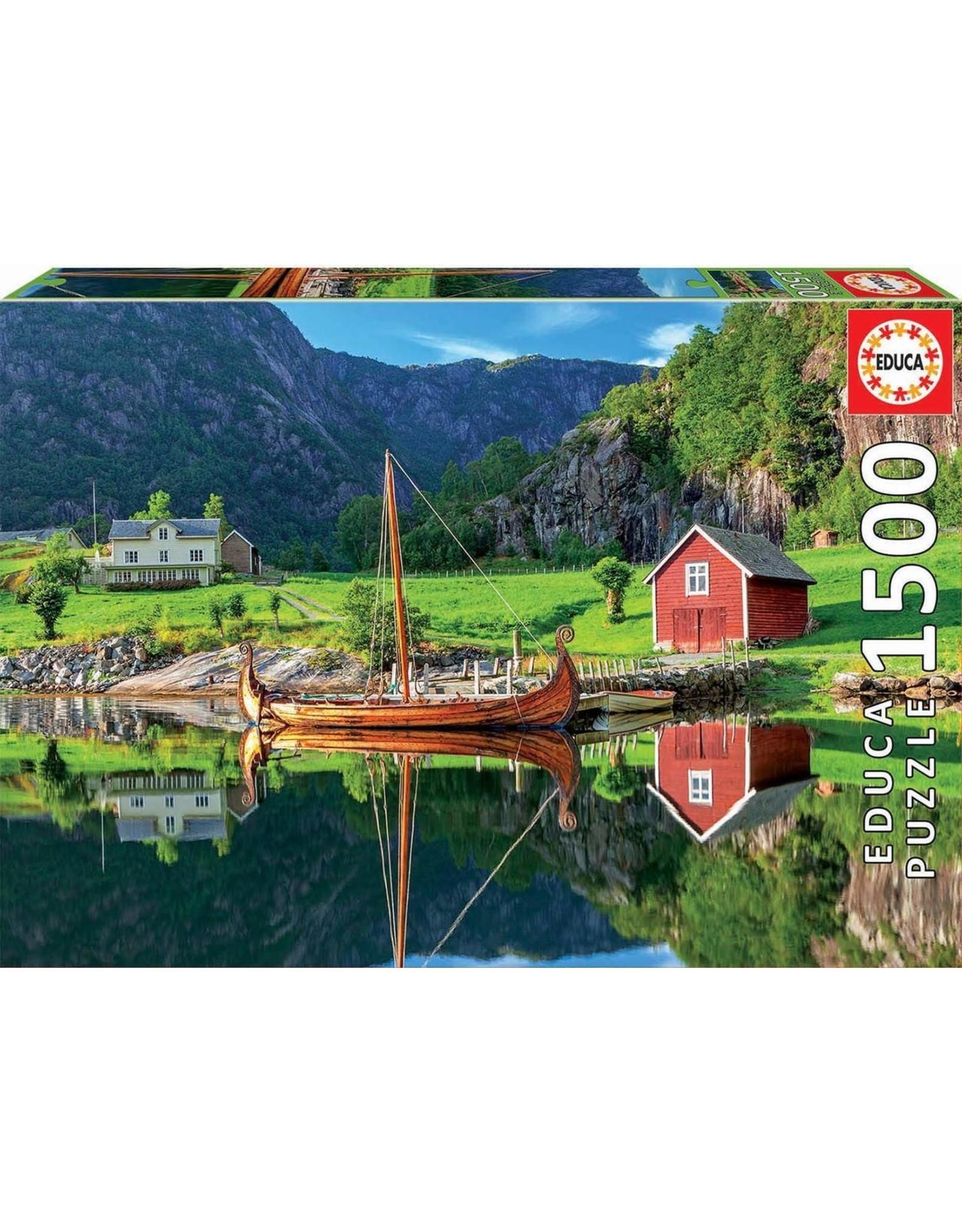 "Educa ""Viking Ship"" 1500 Piece Puzzle"