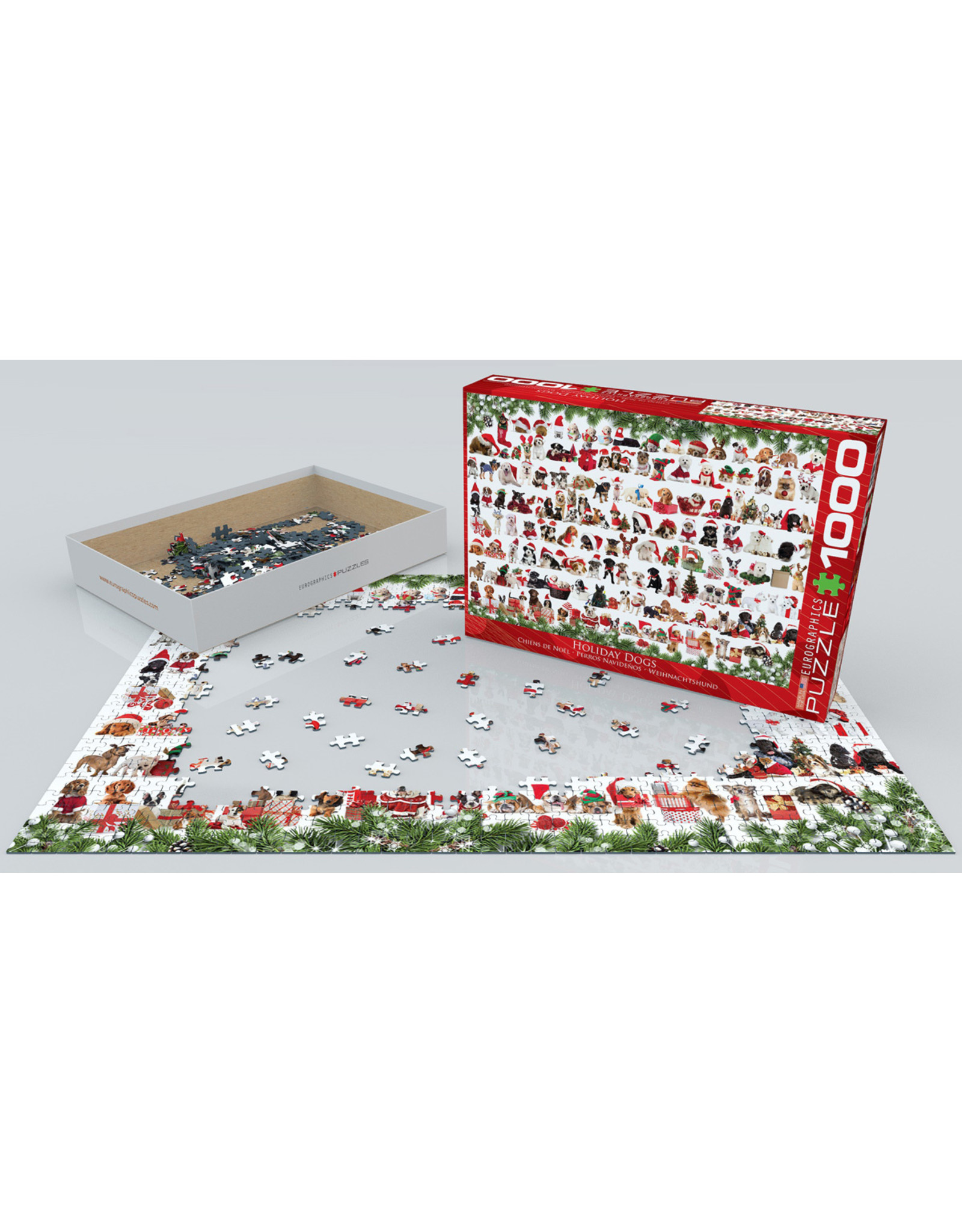 "Eurographics ""Holiday Dogs"" 1000 Piece Puzzle"