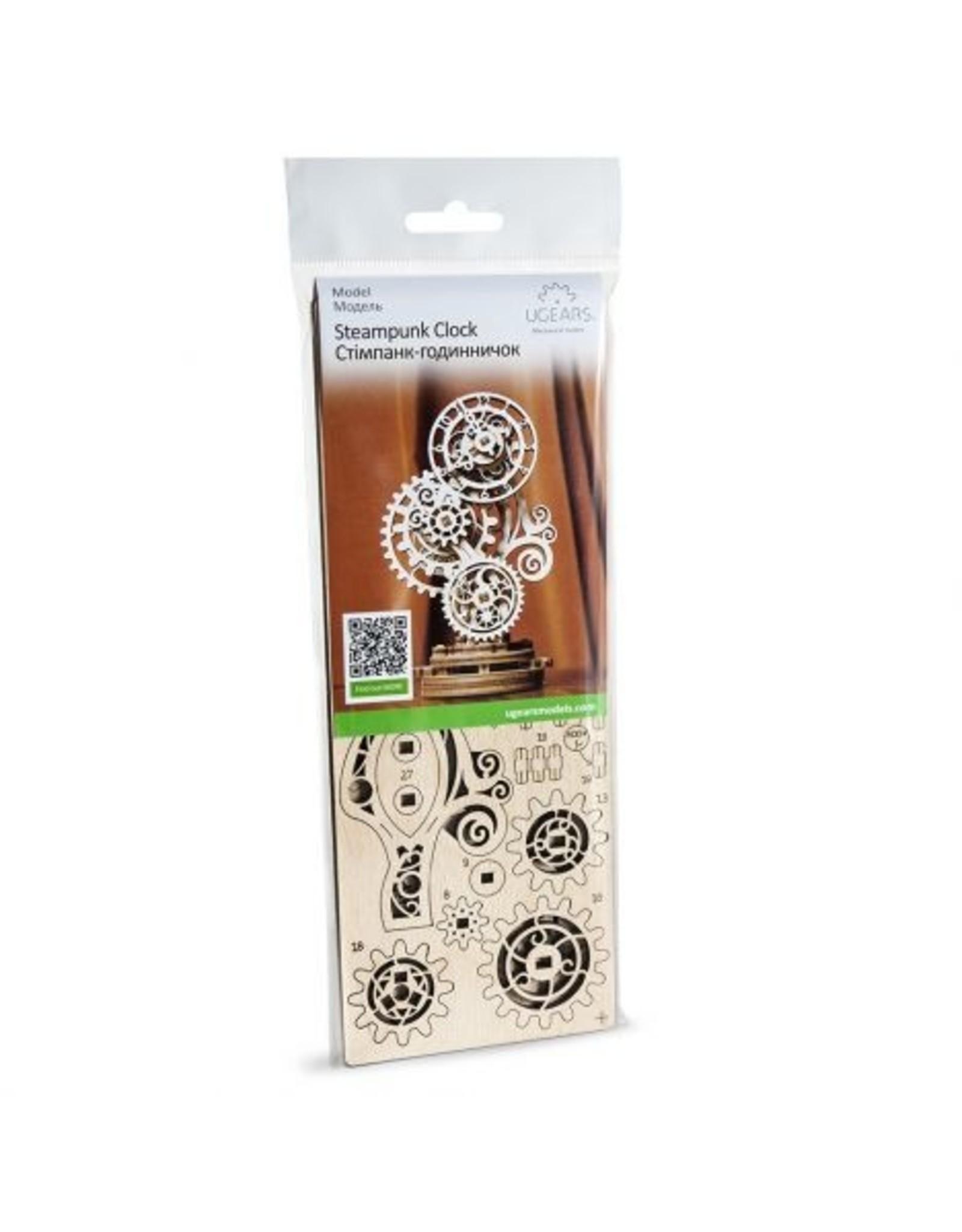UGears Steampunk Clock Wood Model