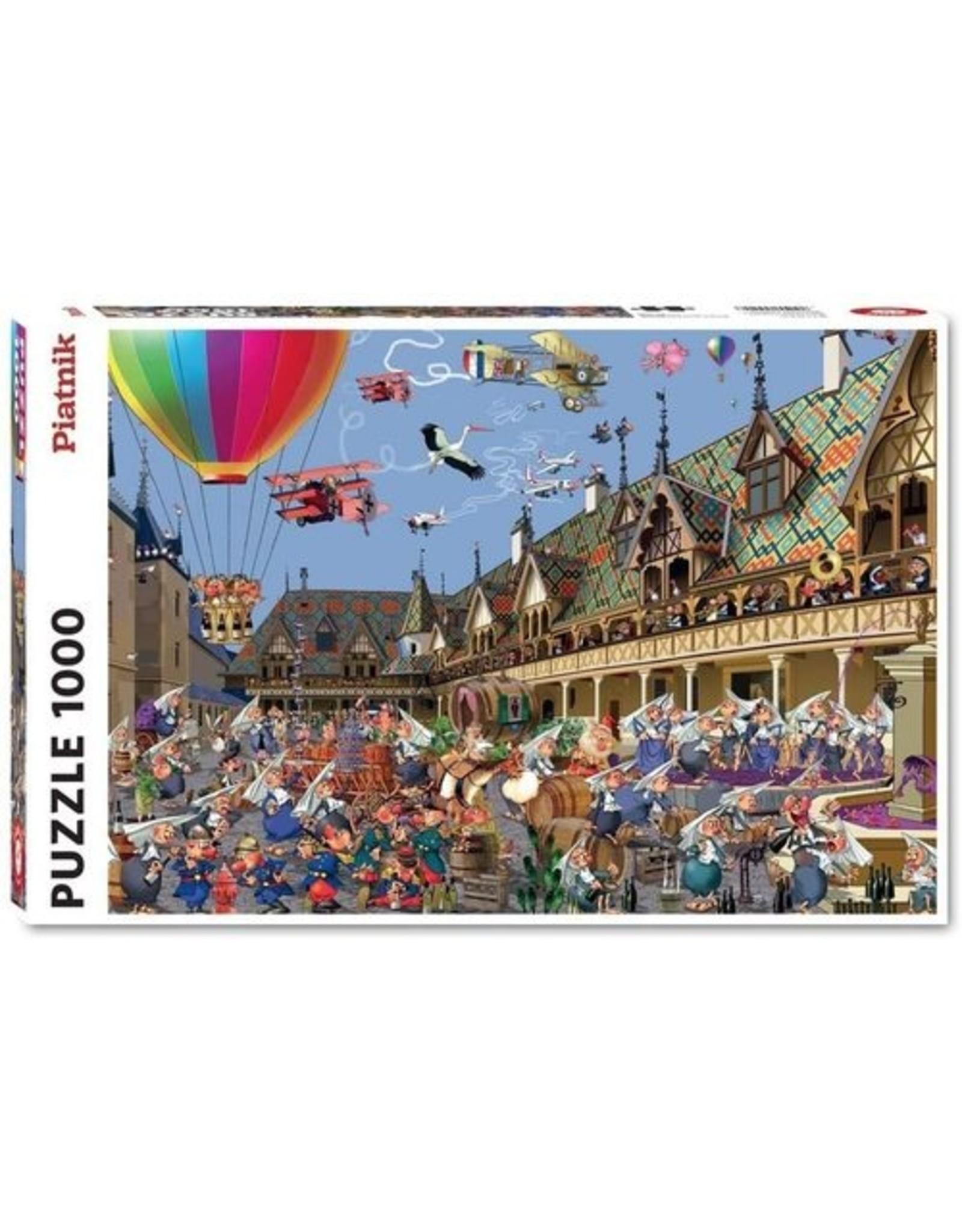 "Piatnik ""Wine Auction in Beaune"" 1000 Piece Puzzle"