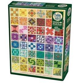 """Cobble Hill """"Common Quilt Blocks"""" 1000 Piece Puzzle"""