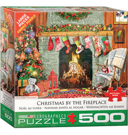 "Eurographics ""Christmas by the Fireplace""  500 Piece Puzzle"