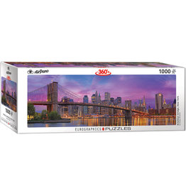 "Eurographics ""Brooklyn Bridge New York"" 1000 Piece Panoramic Puzzle"