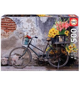 """Educa """"Bicycle with Flowers"""" 500 Piece Puzzle"""