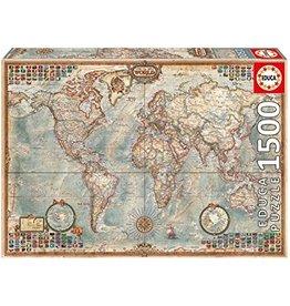 """Educa """"Antique World Map"""" 1000 Piece Puzzle"""