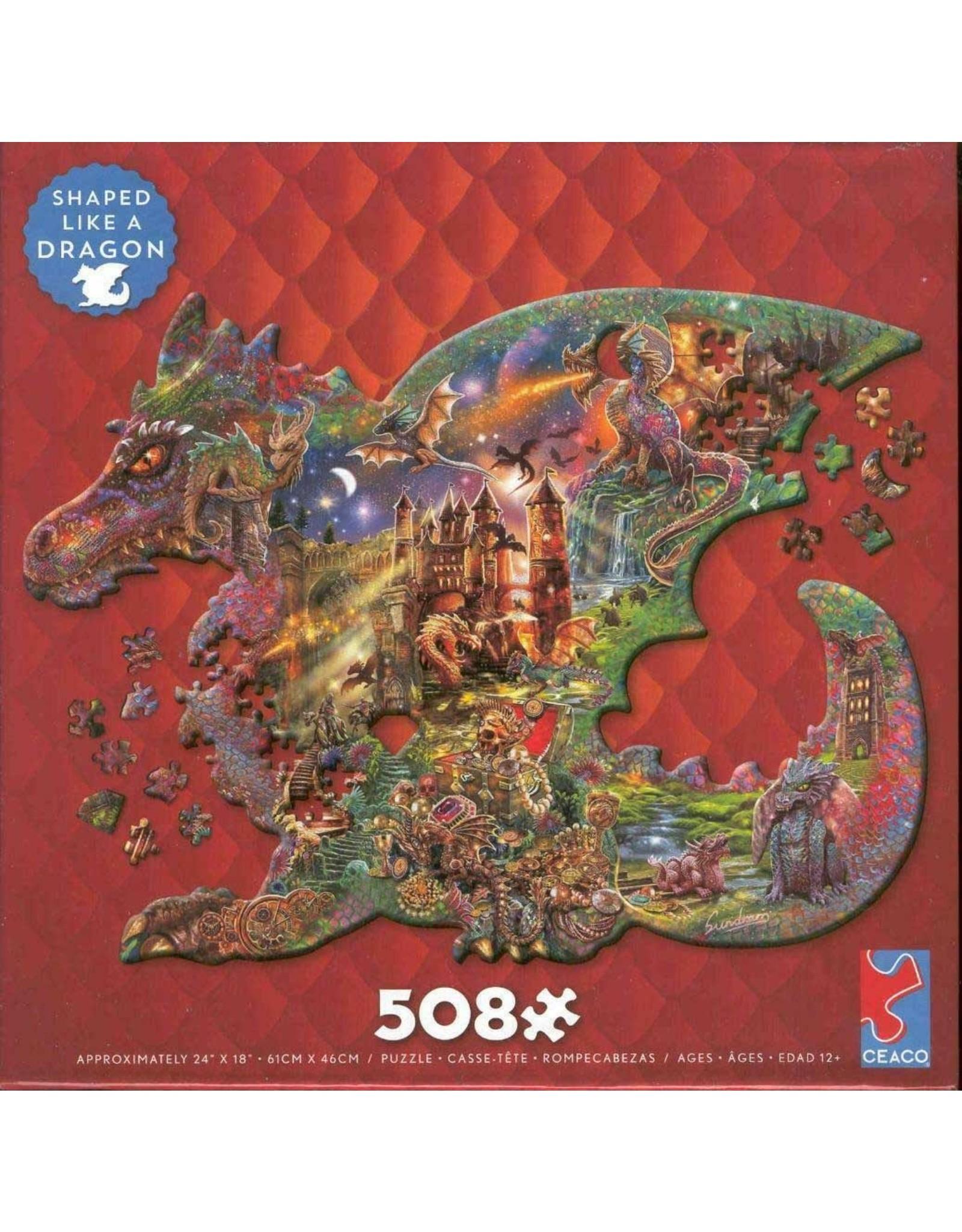 "Ceaco ""Puzzle Shapes Collection: Dragon"" 508 Piece Puzzle"