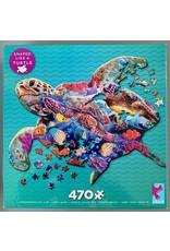"""Ceaco Puzzle Shapes Collection: """"Turtle"""" 470 Piece Puzzle"""