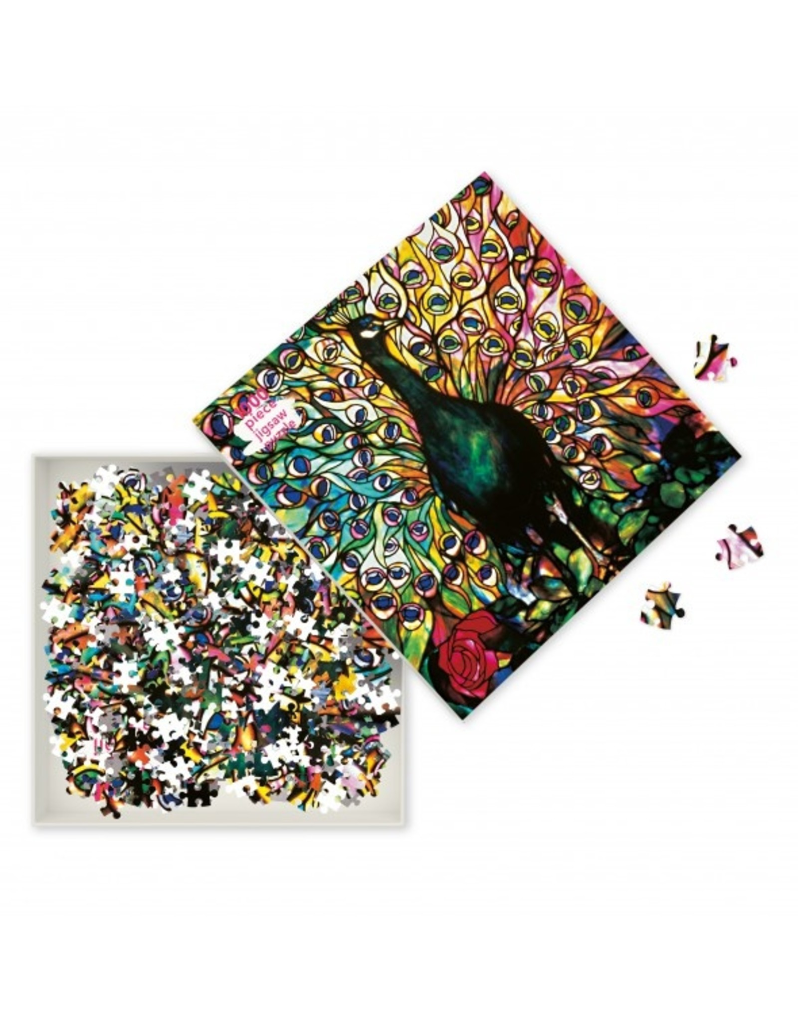 """Flame Tree Publishing """"Displaying Peacock"""" 1000 Piece Puzzle"""