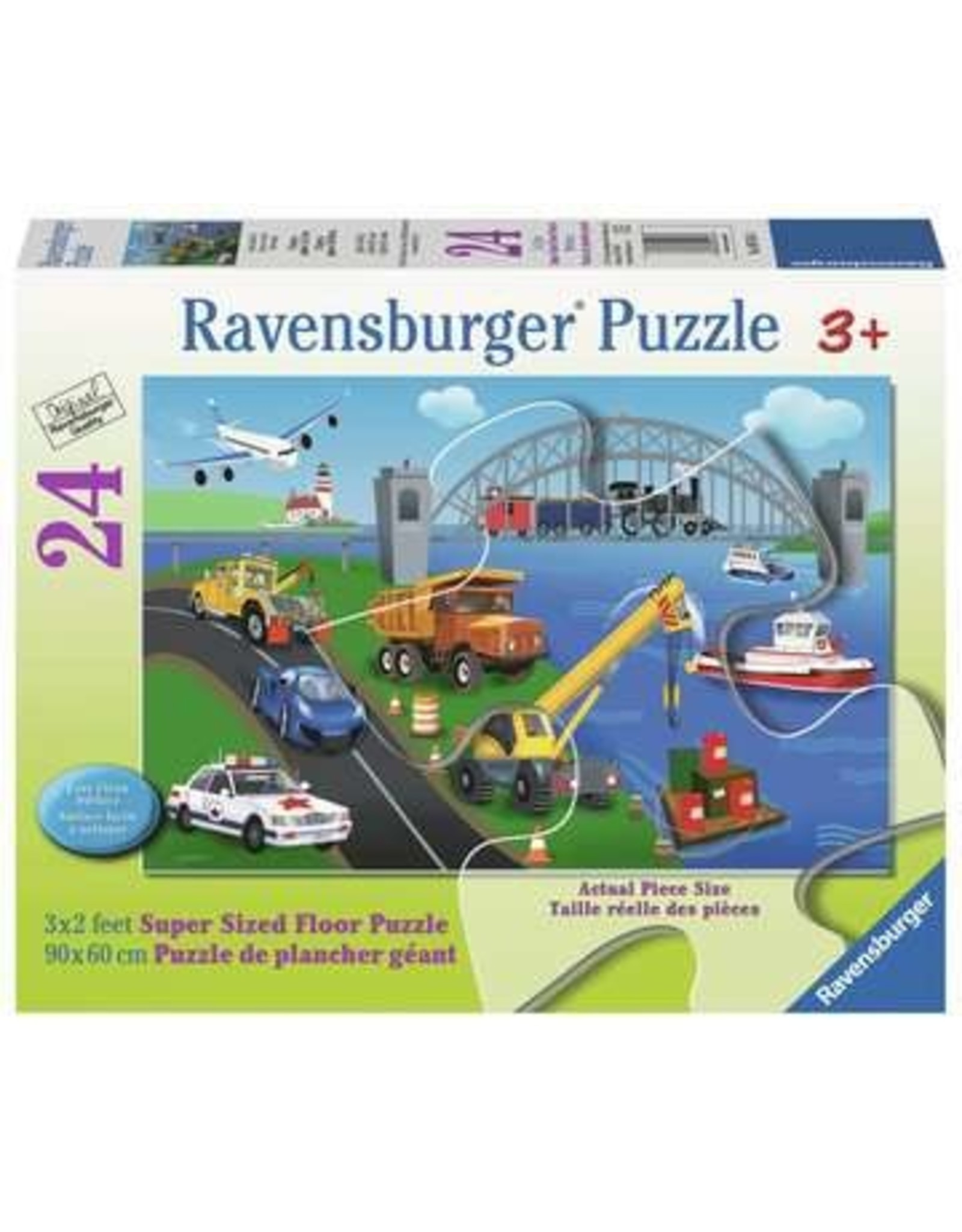 """Ravensburger """"A Day on the Job"""" 24 Piece Floor Puzzle"""