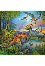 "Ravensburger ""Dinosaur Fascination"" 3X 49 Piece Puzzles"