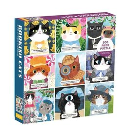 "Galison ""Bookish Cats"" 500 Piece Puzzle"