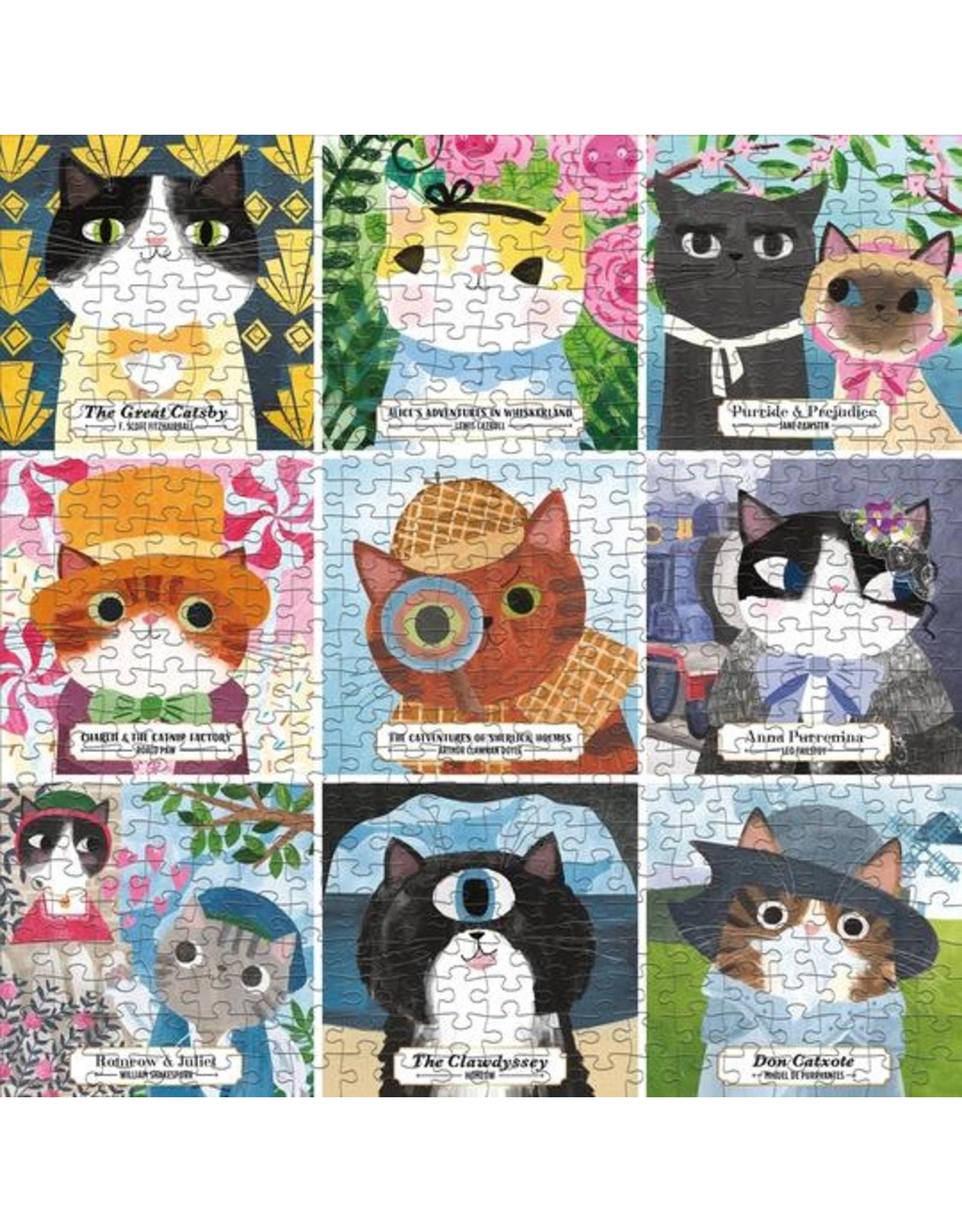 "Galison ""Bookish Cats"" 500 Piece Puzzle"