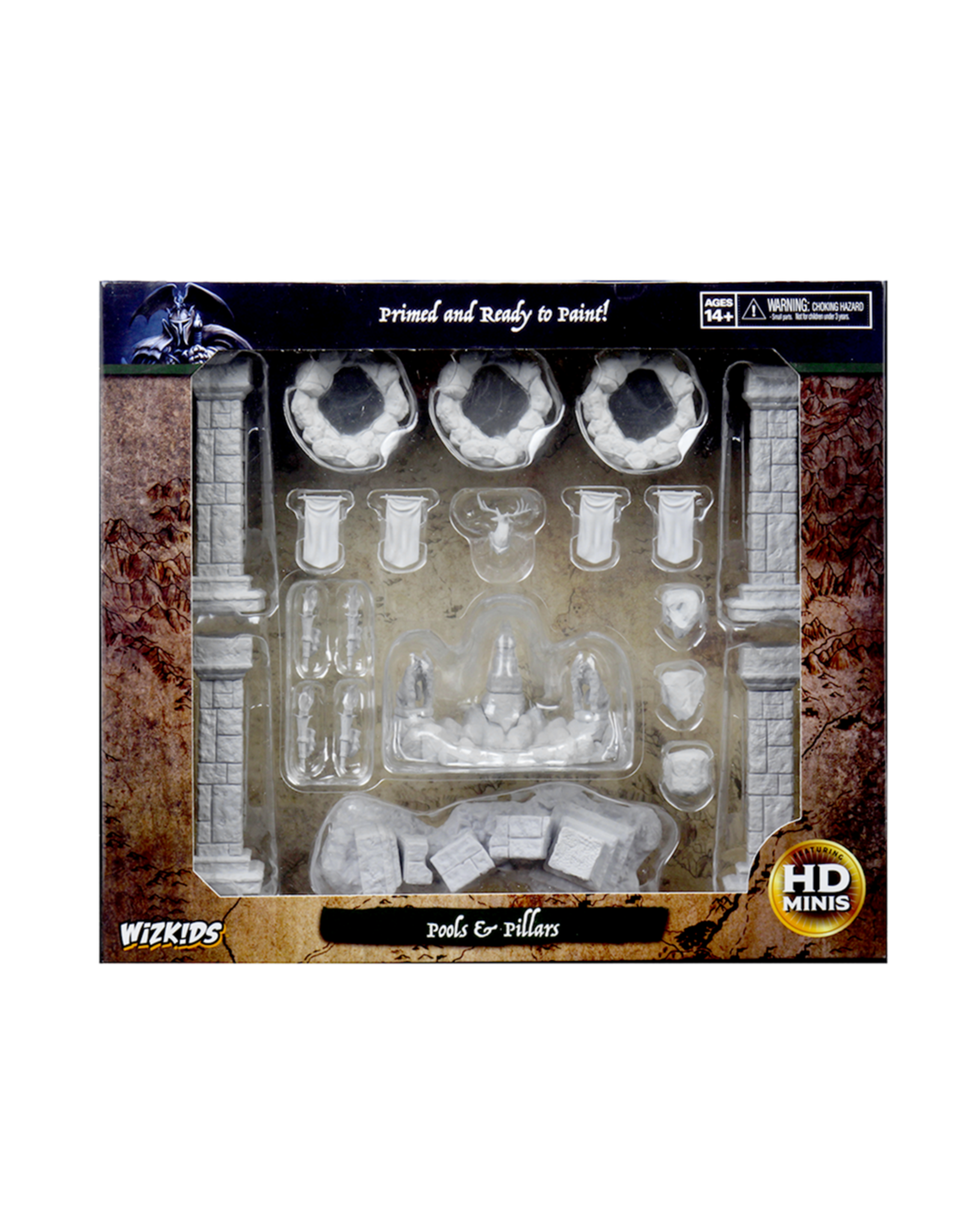 Wizkids Unpainted Miniatures: Pools & Pillars
