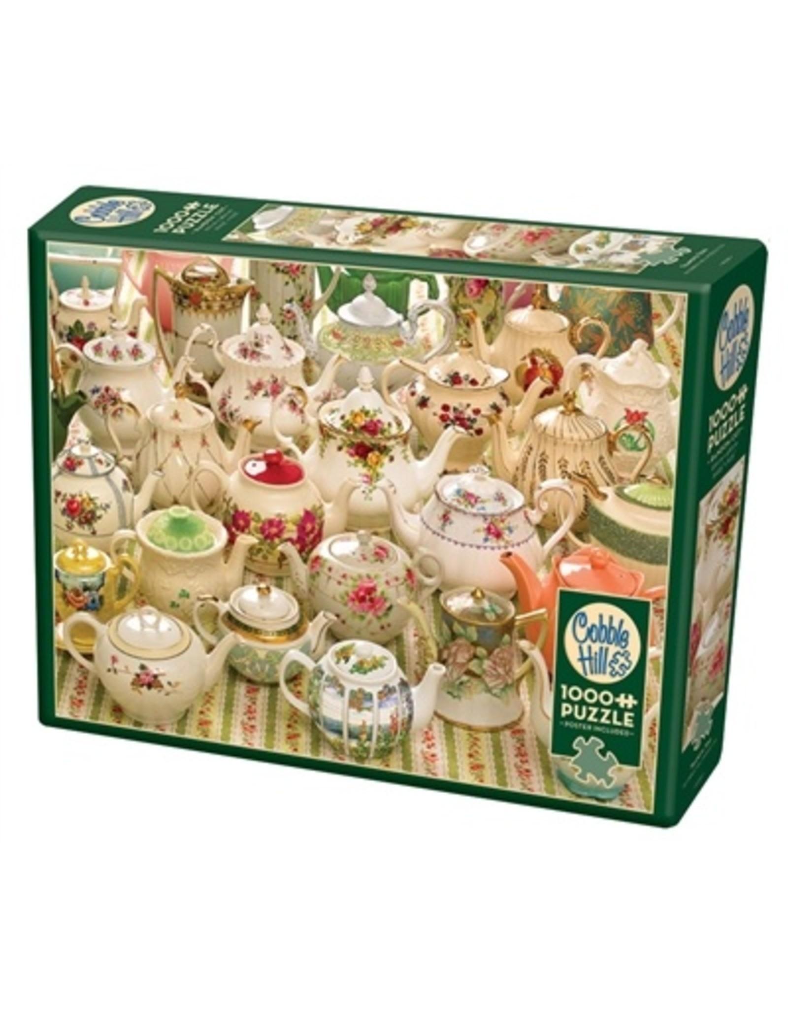 """Cobble Hill """"Teapots Too"""" 1000 Piece Puzzle"""