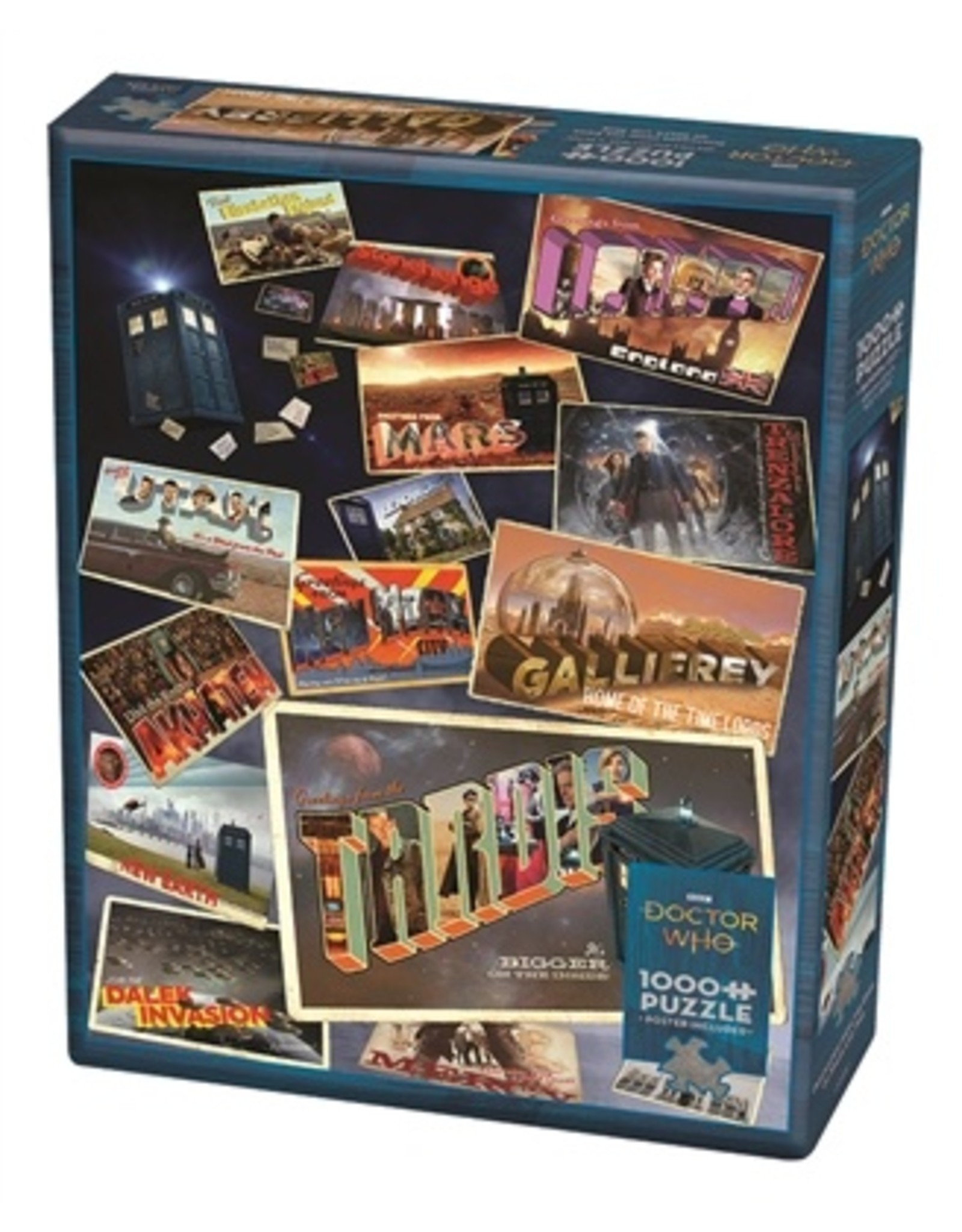"Cobble Hill ""Dr. Who Postcards"" 1000 Piece Puzzle"