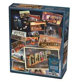 """Cobble Hill """"Dr. Who Postcards"""" 1000 Piece Puzzle"""