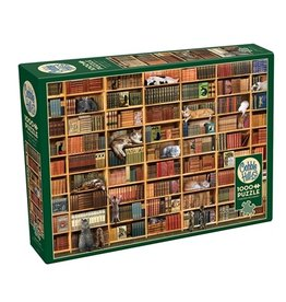 "Cobble Hill ""The Cat Library"" 1000 Piece Puzzle"