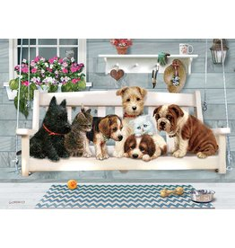 "Cobble Hill ""Porch Pals""  1000 Piece Puzzle"