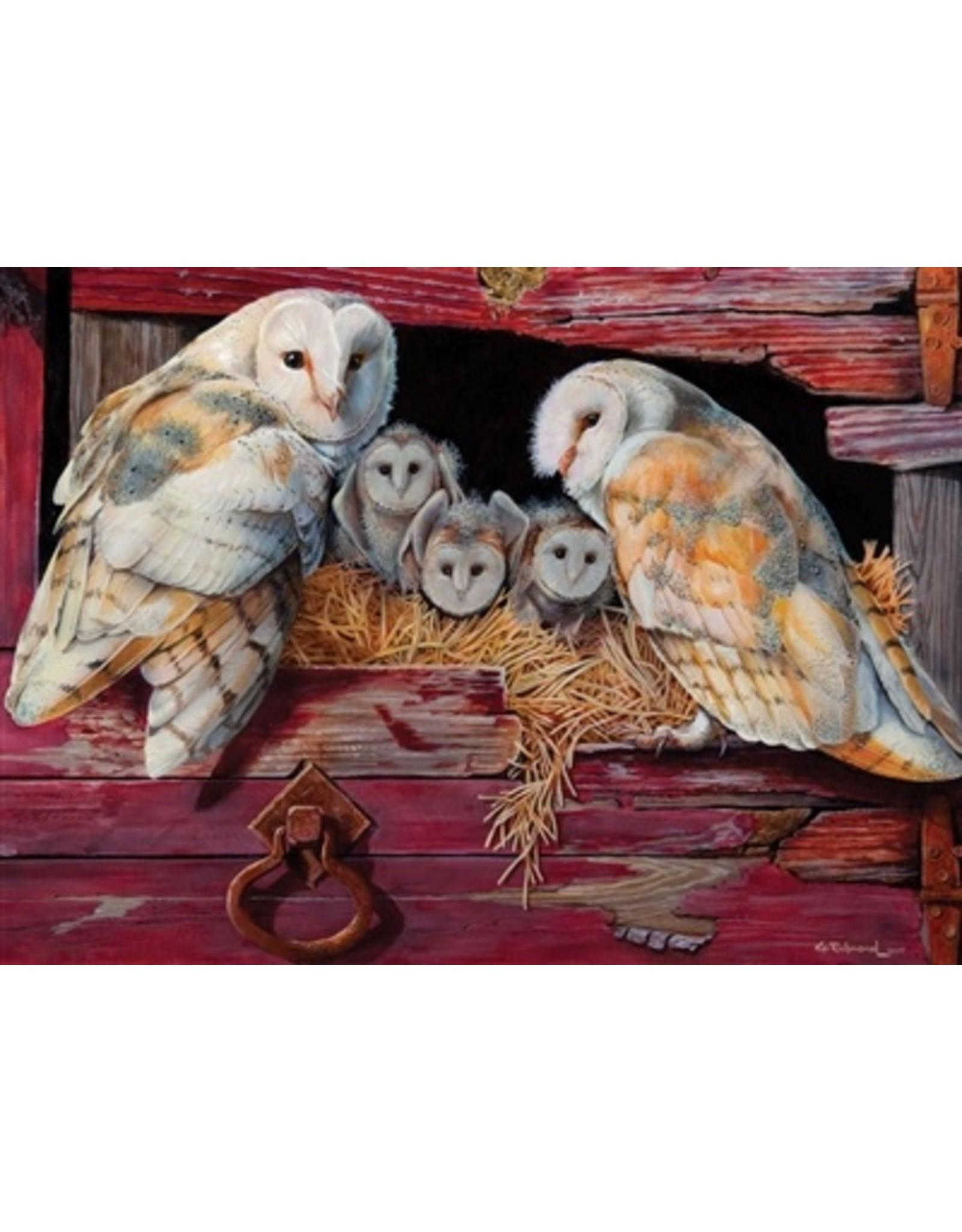 "Cobble Hill ""Barn Owls"" 1000 Piece Puzzle"