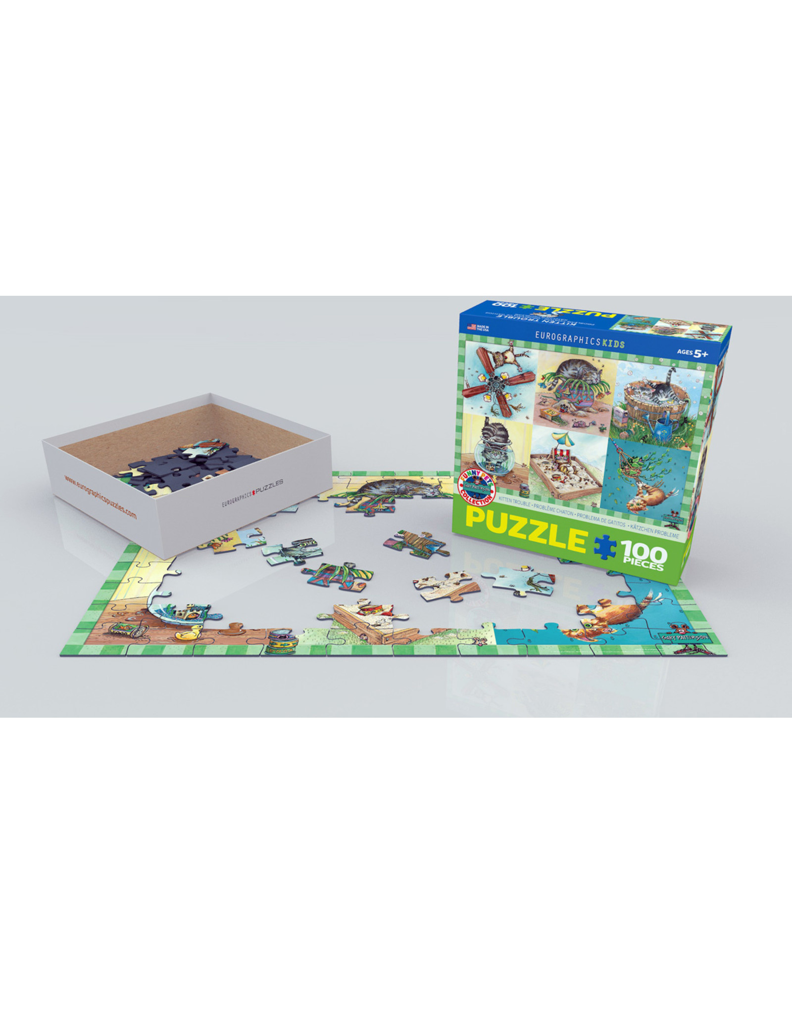 "Eurographics ""Kitten Trouble"" 100 Piece Puzzle"