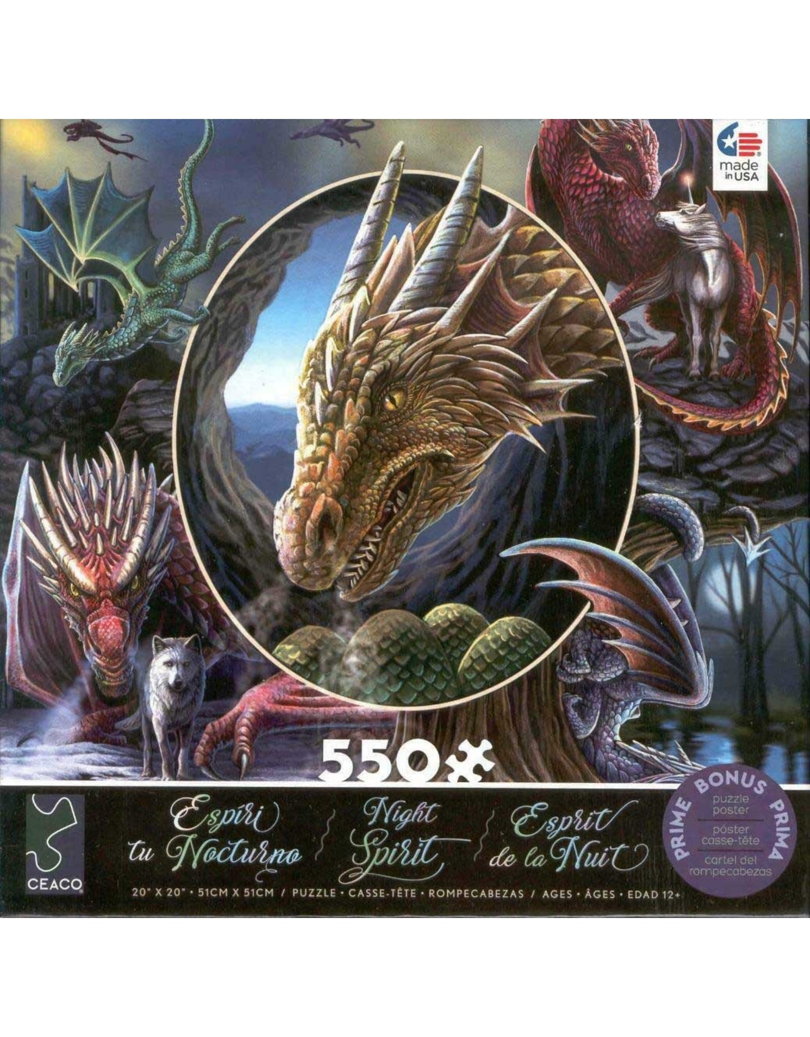 "Ceaco Night Spirit Collection: ""Spirit Dragons"" 550 Piece Puzzle"
