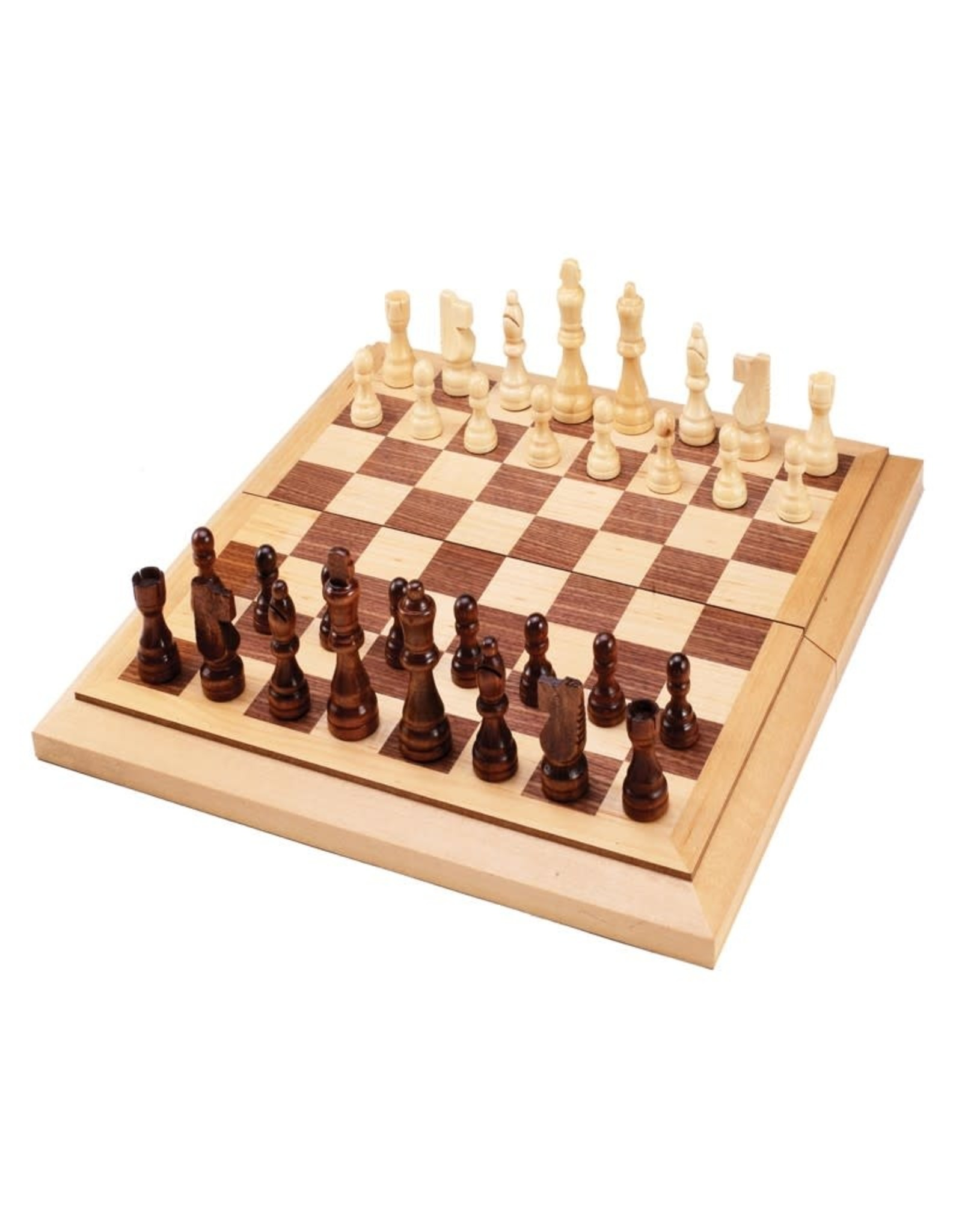 "John Hansen 15"" Folding Chess & Checkers Combo"