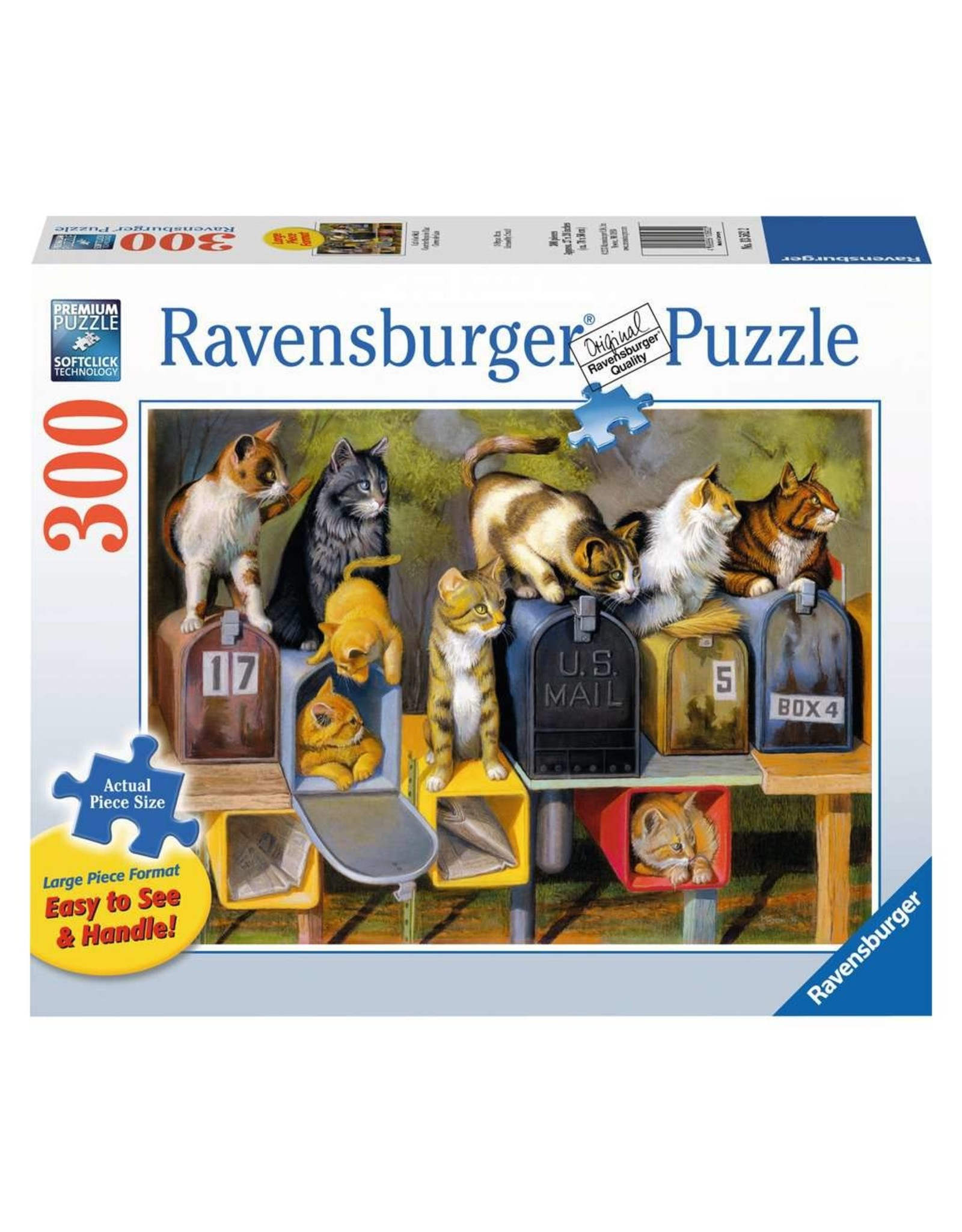 "Ravensburger ""Cat's Got Mail"" 300 Piece Puzzle"