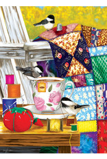 "SunsOut ""Afternoon Quilt Mending"" 500 Piece Puzzle"