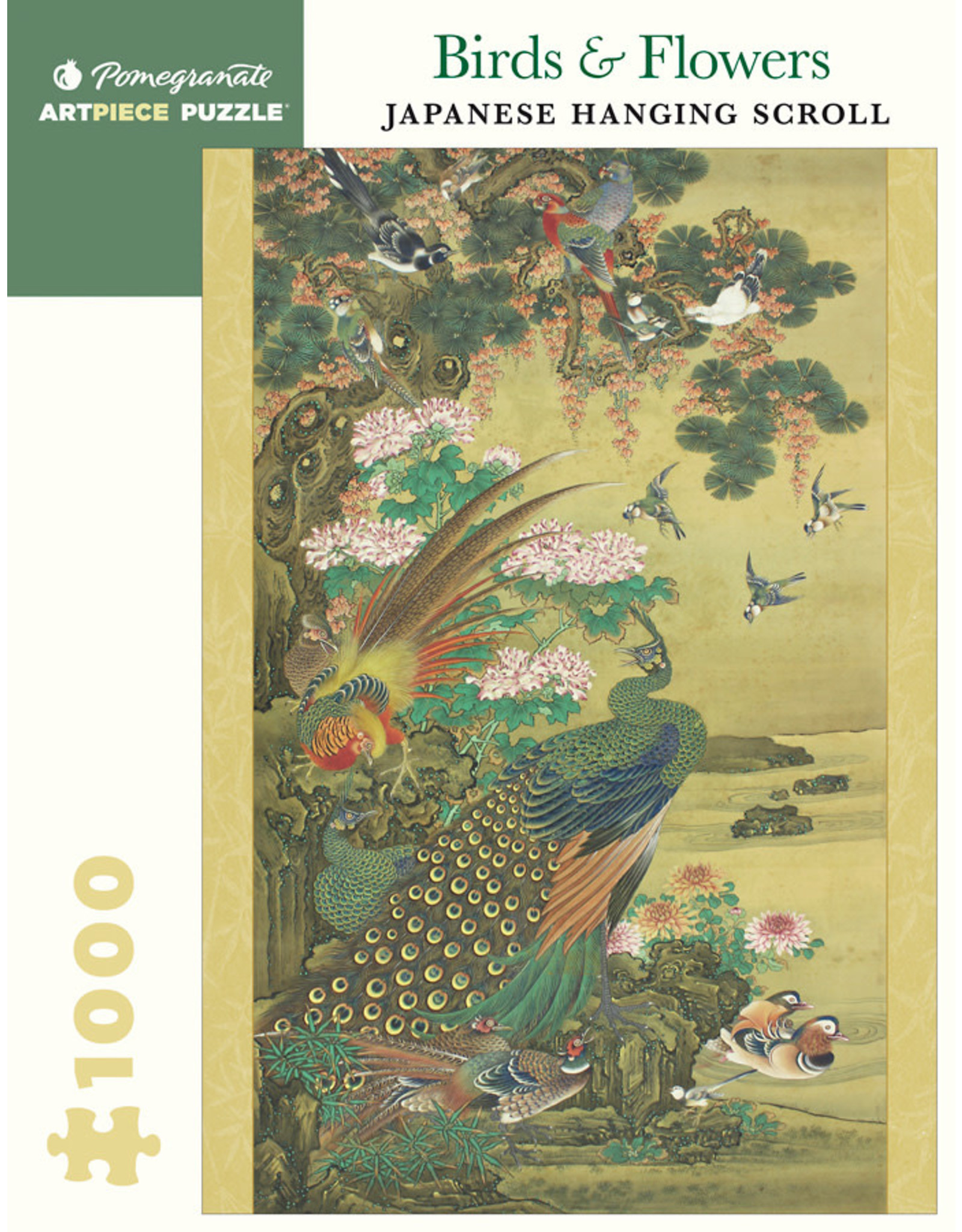 "Pomegranate ""Birds & Flowers Japanese Scroll"" 1000 Piece Puzzle"