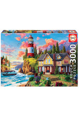 "Educa ""Lighthouse Near the Ocean"" 3000 Piece Puzzle"