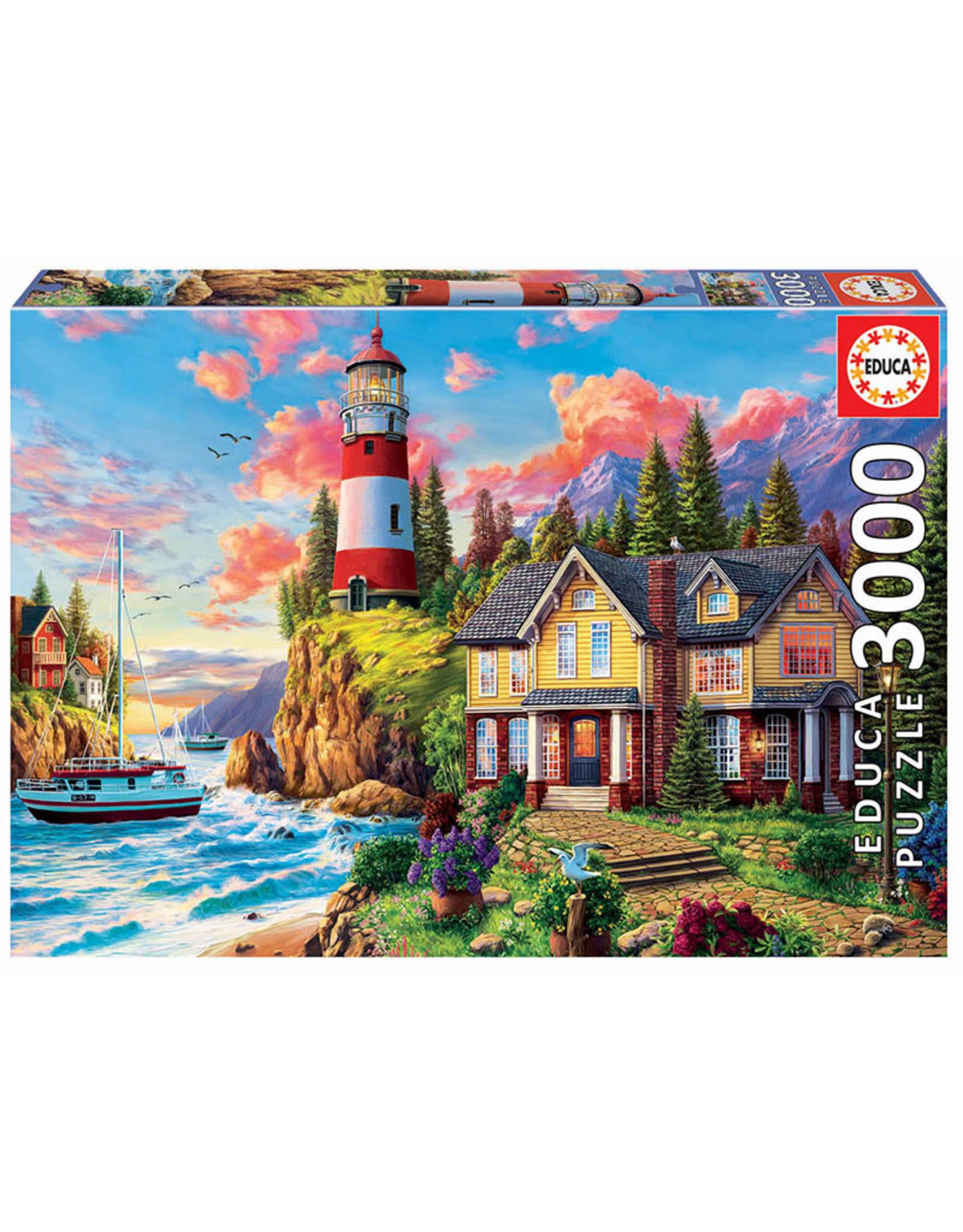 "Educa ""Lighthouse Near the Ocean"" 3000 Piece Puzzle"
