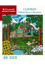 """Pomegranate """"Cliffside House in Mountains"""" 500 Piece Puzzle"""